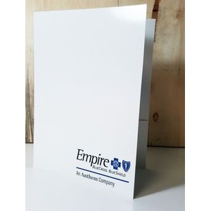 ECONOMY POCKET FOLDER (3 Large 4-Color Imprint Areas, Gloss Finish & Business Card Slot)